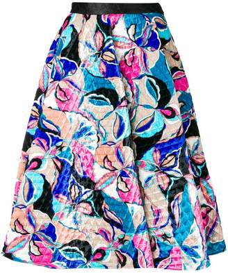 Emilio Pucci a-line quilted skirt