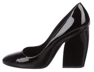 Pierre Hardy Patent Leather Round-Toe Pumps