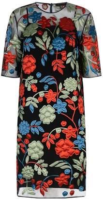 Burberry Floral Appliqué Sheer Dress