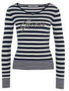 Pullover, gestreift, Strass, breiter Bund