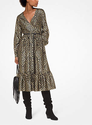 Michael Kors Lurex Jacquard Dress