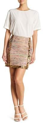 Nicole Miller Silk Blend Combo Mini Skirt