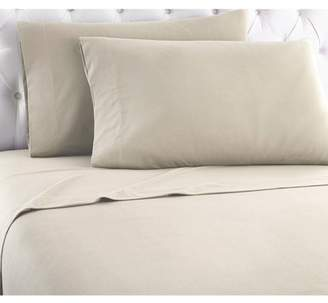 Shavel Home Products Micro Flannel Solid Color Sheet Set, Full, Taupe