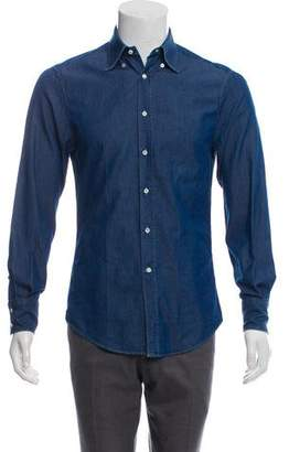 1c03af8b5c Brunello Cucinelli Denim Shirt Men - ShopStyle