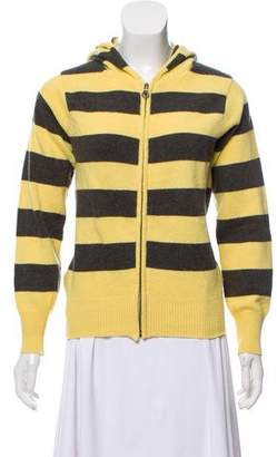Clements Ribeiro Hooded Striped Sweater