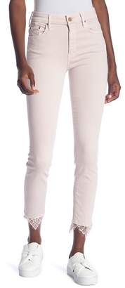 Mother The Looker Dagger High Waist Ankle Skinny Jeans (Blush)