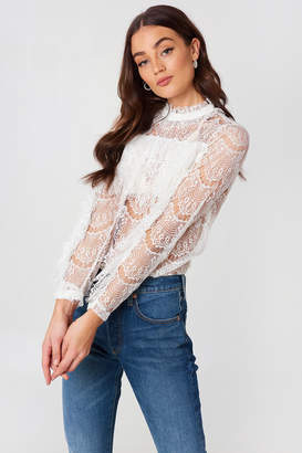 Rut & Circle Rut&Circle Wilma Lace Frill Top White