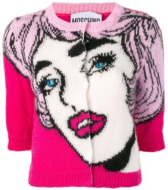 Moschino face pattern sweater
