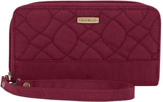 Travelon RFID Blocking Signature Quilted Phone Clutch Wallet
