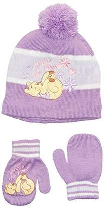 Disney Baby-Girls Winnie The Pooh Hat & Gloves Set,(Manufacturer Size:46)