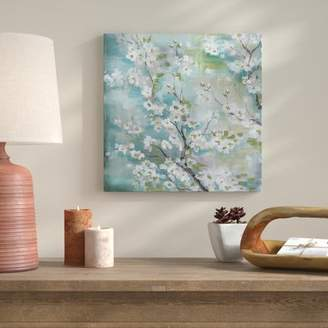 Bloomsbury Market 'Cherry Blossoms' Decorative Print on Wrapped Canvas