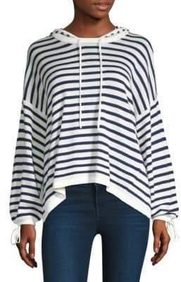 Splendid Stripe Hoodie Sweater