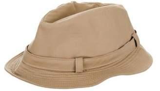 Burberry Woven Fedora Hat Tan Woven Fedora Hat