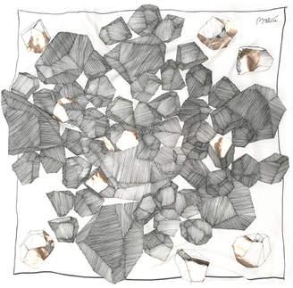 Baltica Foulards Kide Silk Cotton Scarf