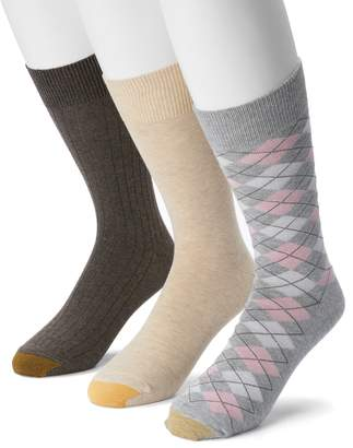 Gold Toe Goldtoe Men's GOLDTOE Casual Fashion 3-Pack Argyle Crew Socks