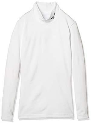 Mizuno (ミズノ) - [Mizuno] トレーニングウェア バイオギアシャツ ハイネック裏起毛 ジュニア 32MA8700 ボーイズ ホワイト×ブラック 日本 130 (日本サイズ130 相当)