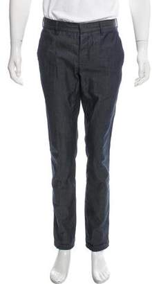 Prada Woven Flat Front Pants