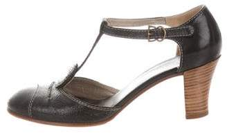 Cacharel Leather T-Strap Pumps