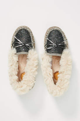 Far Away From Close Sequined Mocassin Slippers