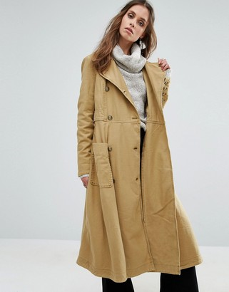 Free People Full Sweep Trench Coat $166 thestylecure.com