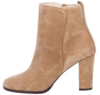 LK Bennett Suede Round-Toe Ankle Boots