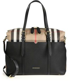Burberry Mason Leather & Check Baby Bag $1,495 thestylecure.com