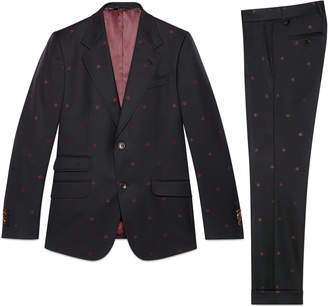 Heritage bees wool gabardine suit $2,900 thestylecure.com