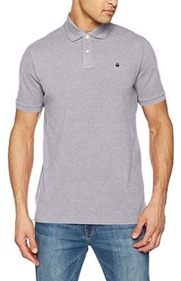 G Star Men's Dunda Polo S/s Shirt, (Grey HTR 906)
