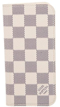 Louis Vuitton Louis Vuitton Damier Azur iPhone 6 Folio