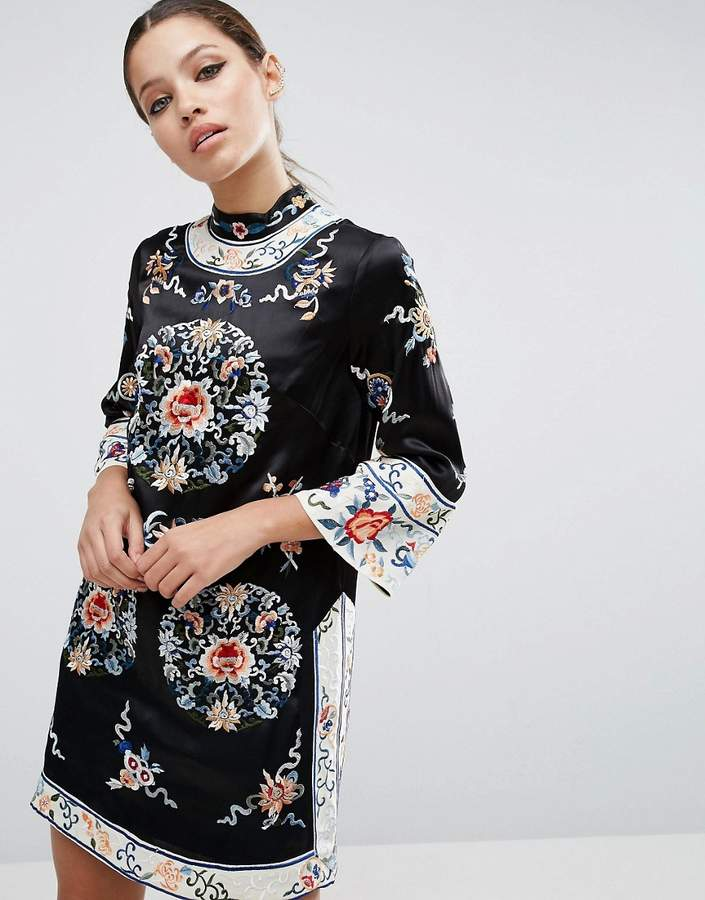 Asos ASOS Embroidered Tunic Shift Dress