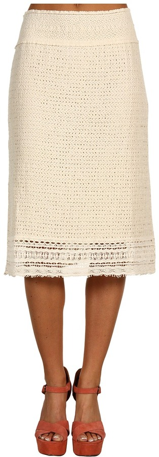 XCVI - Crochet Skirt (Natural) - Apparel