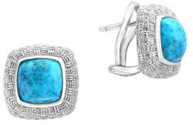 Effy Sterling Silver Turquoise Earrings