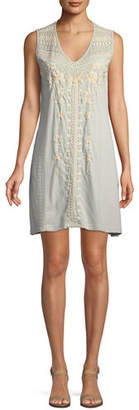 Johnny Was Briar Yoke Cotton Tank Tunic Dress, Plus Size