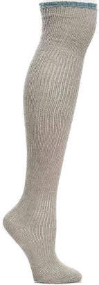Lemon Colorblock Over The Knee Socks - Women's