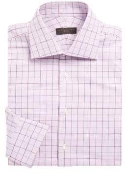 Ike Behar Cotton Overcheck Dress Shirt
