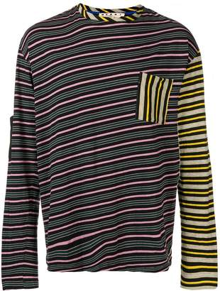 Marni colourblock stripe tee