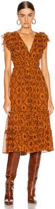 Ulla Johnson Anika Dress in Ochre | FWRD