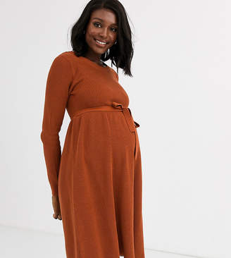 Mama Licious Mama.Licious Mamalicious maternity knitted flare dress
