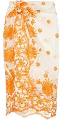 Miguelina Layna Crocheted Cotton Pareo