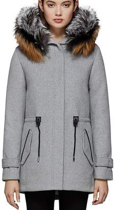 Mackage Alexa Fox Fur Trim Hooded Coat