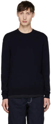 Comme des Garcons Navy Wool Gauge Sweater
