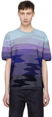 Missoni Blue 3D Effect T-Shirt