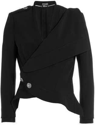 Alexander McQueen Crepe Military Jacket
