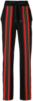 NO KA 'OI No Ka' Oi striped appliqués track pants