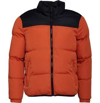 Brave Soul Mens Davis Puffer Jacket Orange