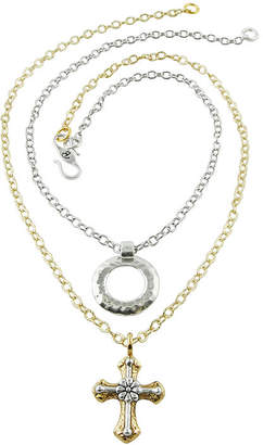 Artsmith BY BARSE Art Smith by BARSE 2-pc. Hammered Circle and Cross Pendant Necklace Set