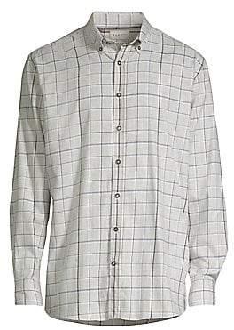 Bugatti Men's Check Print Button-Down Shirt