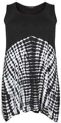 Yours Clothing Women's Plus Size Tie Dye Print Swing Vest Top