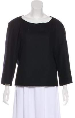 Dries Van Noten Wool Bateau Neck Blouse