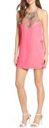 Lilly Pulitzer R) Pearl Lace Trim Romper Dress